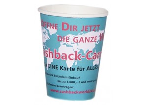 "Coffee to go Becher 200 ml ""Cashback"" - 1000 Stck."