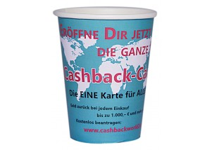 "Coffee to go Becher 200 ml ""Cashback"" - 50 Stck."