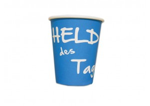 "Coffee to go Becher 200 ml ""Held des Tages"" - 50  Stck."