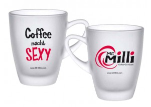 "Mr. Milli Tasse ""Coffee macht sexy"" 200 ml - satiniert"
